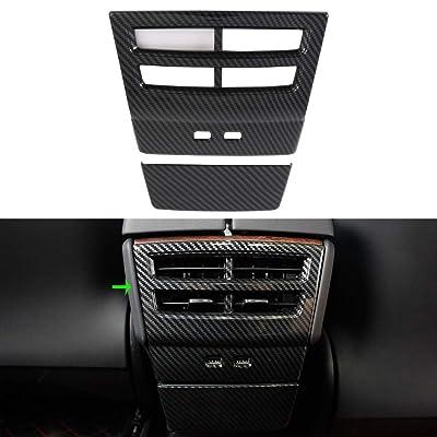 OBL Rear Air Vent Cover for tesla Model X Model S 2016 2020 2020 2020 ABS Plastic Car Accessories (rear air vent cover, imitation carbon fiber): Automotive