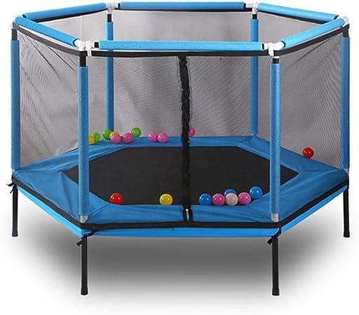 LSYOA Juego Trampolín Fitness, con la Cremallera Red de Seguridad Cama elástica Infantil Trampolín de Jardín para jardín y Uso doméstico,Blue: Amazon.es: Hogar