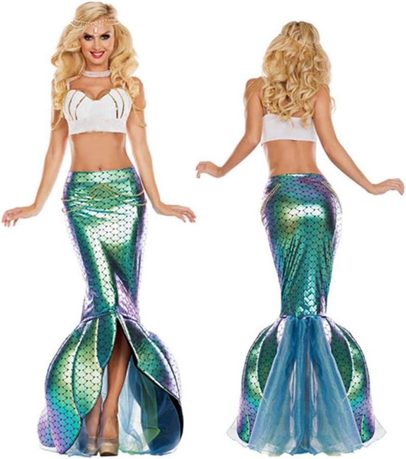XBYUK Vestido de Sirena Disfraces para Halloween Falda para ...