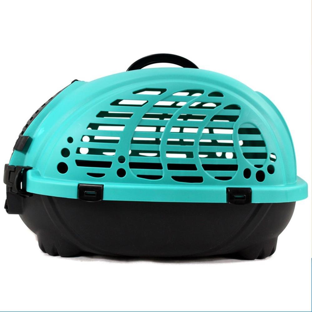 xueyan Caja de envío de jaula de transporte de caja de envío de mascotas caja de transporte portátil de jaula de transporte de aire de perro, m- medium, azul