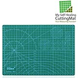 "Self Healing Rotary Cutting Mat with Grid 12 x 18"" Odorless Durable Warp-Proof Non Slip Double Sided Rotating Cutting Mats for Scrapbooking Quilting Sewing and all Arts & Crafts Projects"