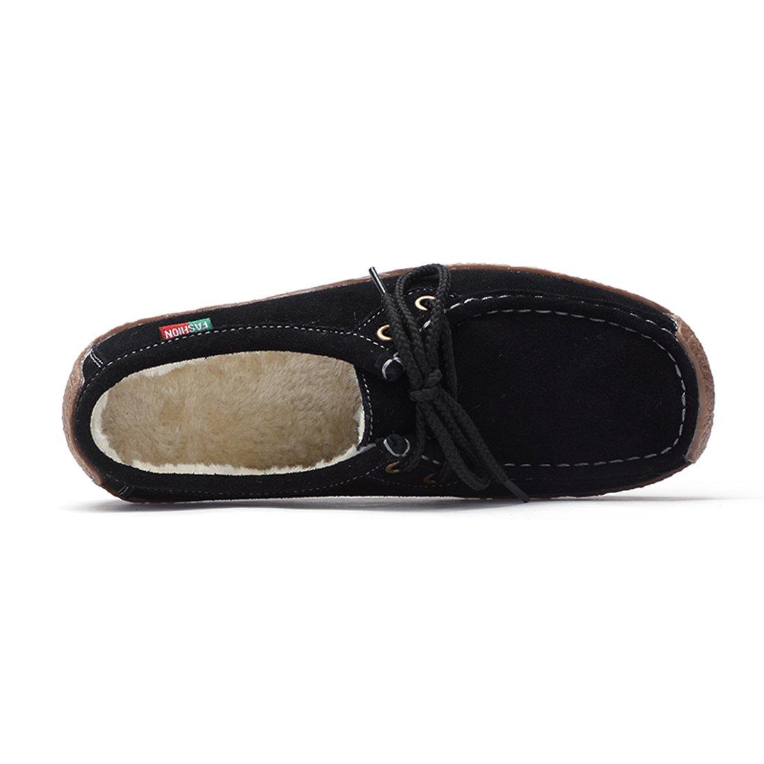 ... Z.SUO Mocassini Donna in in in Pelle Scamosciata Moda comode Loafers Scarpe  da Guida ... 137157eaef0