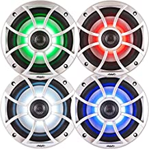 """Wet Sounds Bundle: Two pairs of XS 65i Series Silver Grill 6.5"""" Speakers w/RGB LED. 60 Watts RMS Each"""