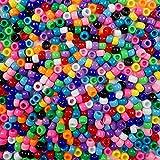 Caribbean Blue Multicolor Mix Plastic Pony Beads