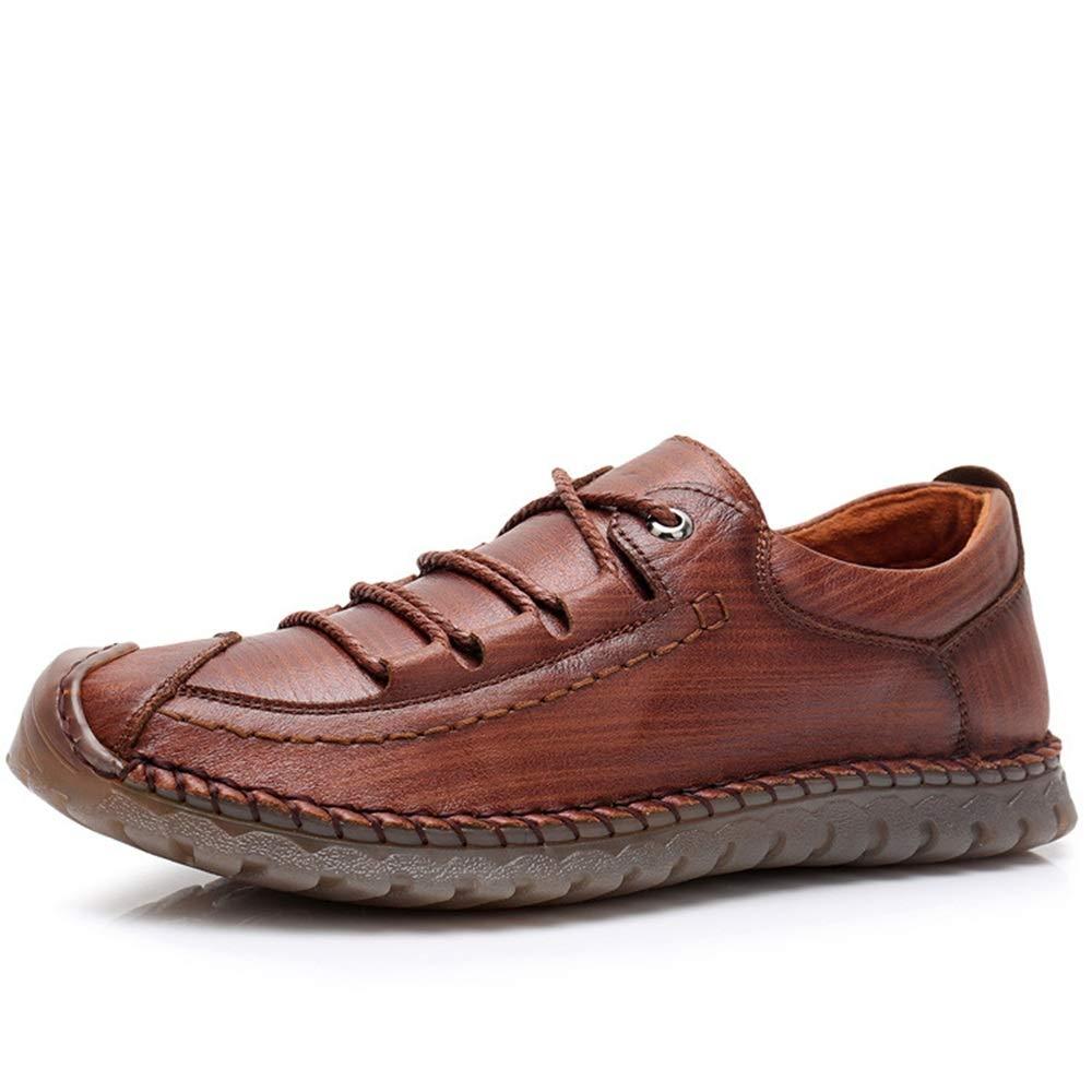 Fuxitoggo Lace up Loafers für Männer Slip weiche Sohle Durable Non Slip Männer beiläufige Breathable Schuhe (Farbe : Braun, Größe : EU 44) Braun ddbac0