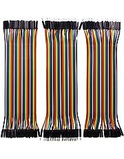 Longruner Jumper Wire 120 piezas placa de pruebas Cinta Cables with ArduinoIDE Raspberry Pi 3 40 pines macho a macho hembra a hembra Jump Breadboard Cables DuPont Wire Kit LK45