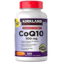 Kirkland Signature Maximum Potency CoQ10 300 mg 100 Softgels Each