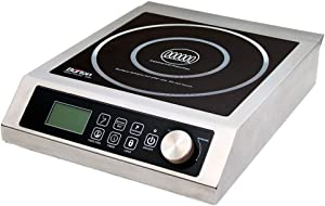 Max Burton 6535 Digital ProChef-3000 Induction Cooktop, Stainless-Steel Body, Larger 9