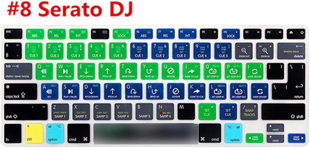 for Pro X Avid Pro Tools Shortcut Keyboard Cover Skin for MacBook Pro Air Retina 13 15 17-Serato Scratch Live
