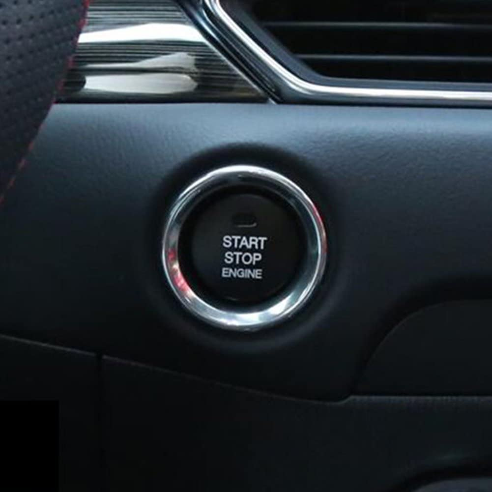 New Engine Start//Stop Push Button Cover Trim for Mazda CX-5 CX5 2012-2018 Black