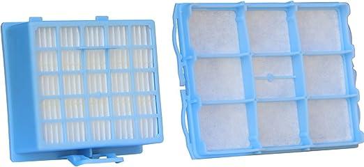 Juego de filtros de aspiradora con 1 filtro HEPA y 1 filtro de motor para Bosch BSG6/Siemens VS06G Serie: Amazon.es: Hogar
