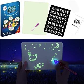 Pizarra luminosa Fluorescencia y fluorescencia Pizarras mágicas ...