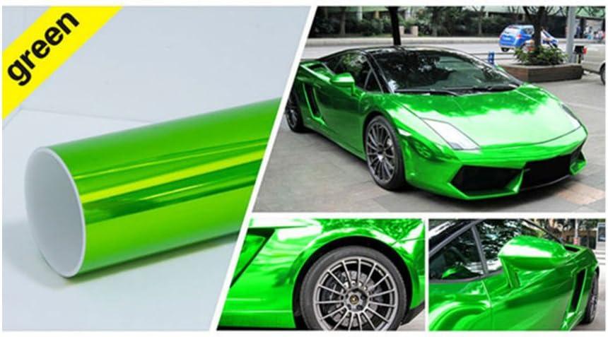 hoho verde metálico cromado brillante velocidad coche lámina de vinilo para regalo 60