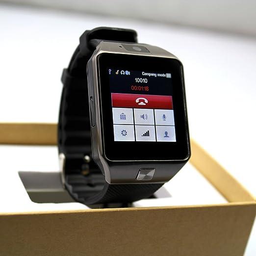 Amazon.com: Bluetooth Smartwatch GSM SIM With Camera Calls ...