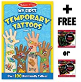 Blue: My First Temporary Tattoos - 100+ Kid-Friendly Tattoos + FREE Melissa & Doug Scratch Art Mini-Pad Bundle