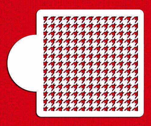 Designer Stencils C806 Houndstooth Miniprint Stencil, Beige/semi-transparent