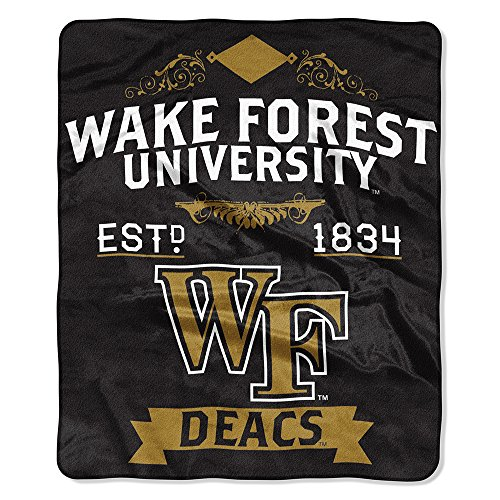 (The Northwest Company NCAA Wake Forest Royal Plus Raschel Throw, One Size, Multicolor)