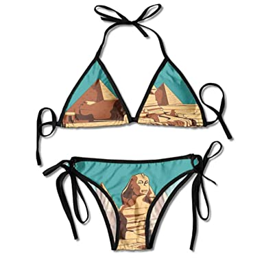 Amazon.com: Juego de bikini con estampado de palma de coco y ...