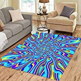 Pinbeam Area Rug Blue Hippie Extended Psychedelic