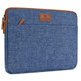 DOMISO 13 Inch Laptop Sleeve Canvas Case Tablet Bag Protect Computer Pouch Skin Cover for 13' MacBook Pro Retina Display / 13' MacBook Air / 12.9' iPad Pro / 13' MacBook Pro , Blue