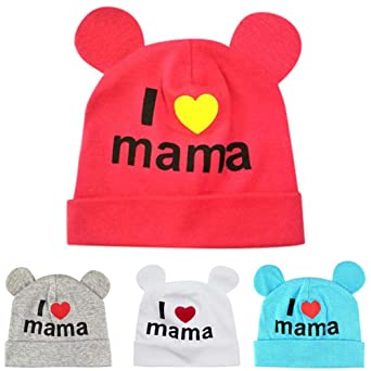 Amazon.com: Hat Baby Sleep Cap Headwear Hat Infant Baby Boys Cartoon Love Childrens Blue: Clothing