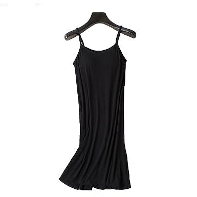 4fea39e7c2 Memoriesed Womens Nightgown Built-in Shelf Bra Chemise Modal Night Dress  Sleeveless