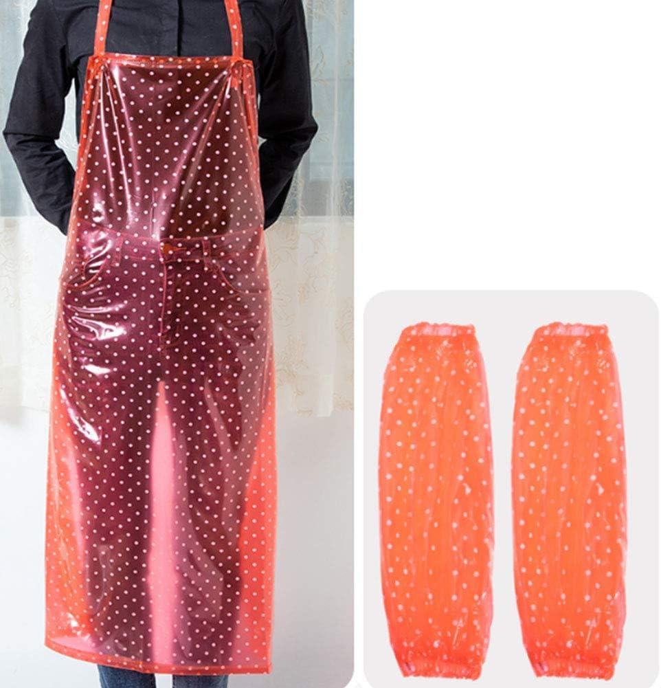 travaux de laboratoire Tablier de travail tablier de cuisine en plastique PVC tablier polyvalent r/ésistant /à leau et /à lhuile pour la vaisselle boucher toilettage pour chiens,Orange