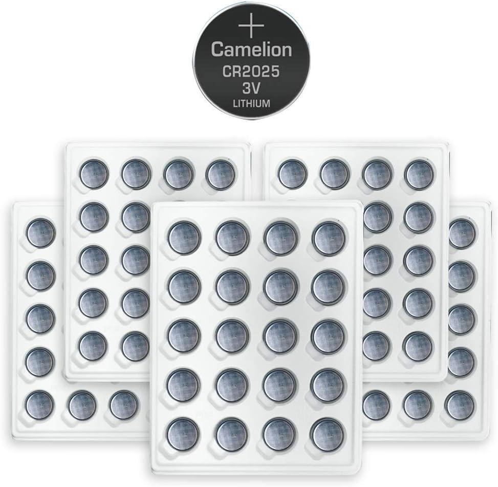 100pk Camelion CR2025 3 Volt Lithium Button Coin Cell Battery