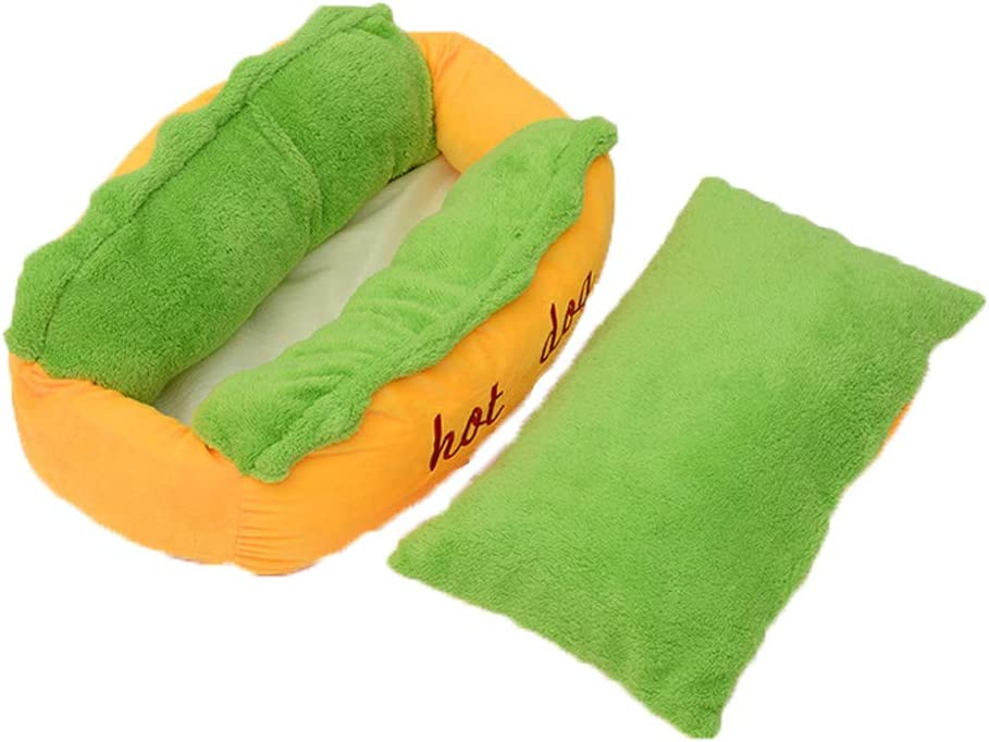 Morrivoe Soft Warm Cat Dog Kitten Cave Pet Bed House Puppy Sleeping Mat Pad Nest Cushion Hot Dog Pattern