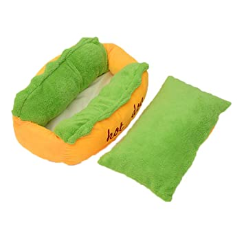 Soft Warm Pet Bed Hot Dog Pad Pet Cushion U-Shaped Pattern Dog Cave,