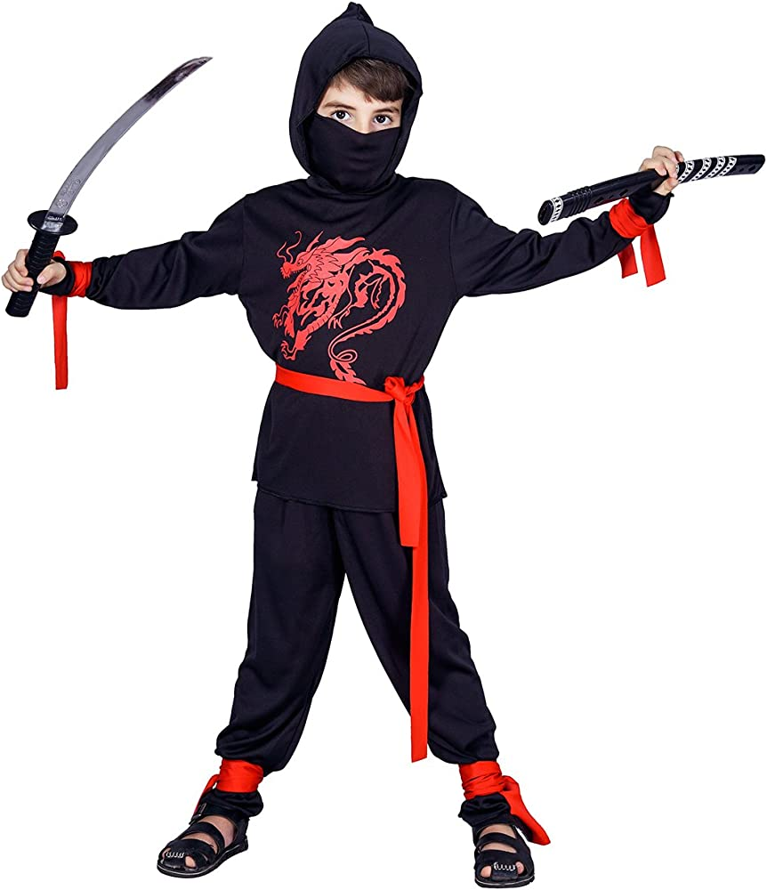 Kids Ninja Costumes (red)