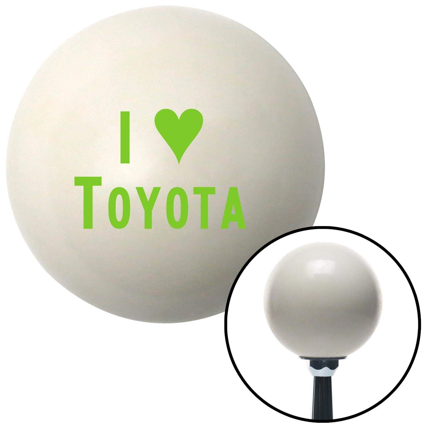 American Shifter 31531 Ivory Shift Knob with 16mm x 1.5 Insert Green I 3 Toyota