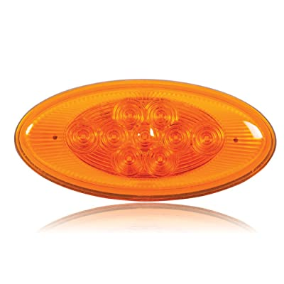 Maxxima M63122Y 9 LED Lightning Oval Amber Side Turn/Side Marker Light for Peterbilt Replacement: Automotive