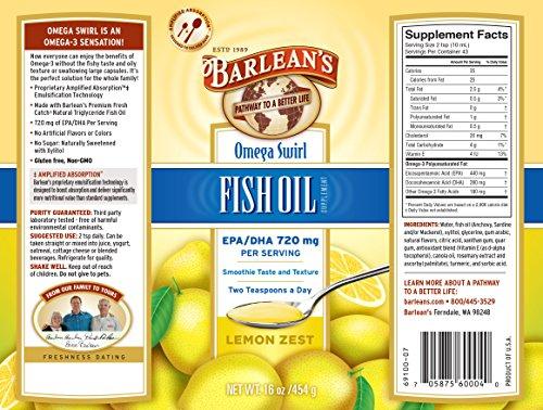 Barlean s omega swirl fish oil lemon zest 16 ounce bottle for Is fish oil bad for you
