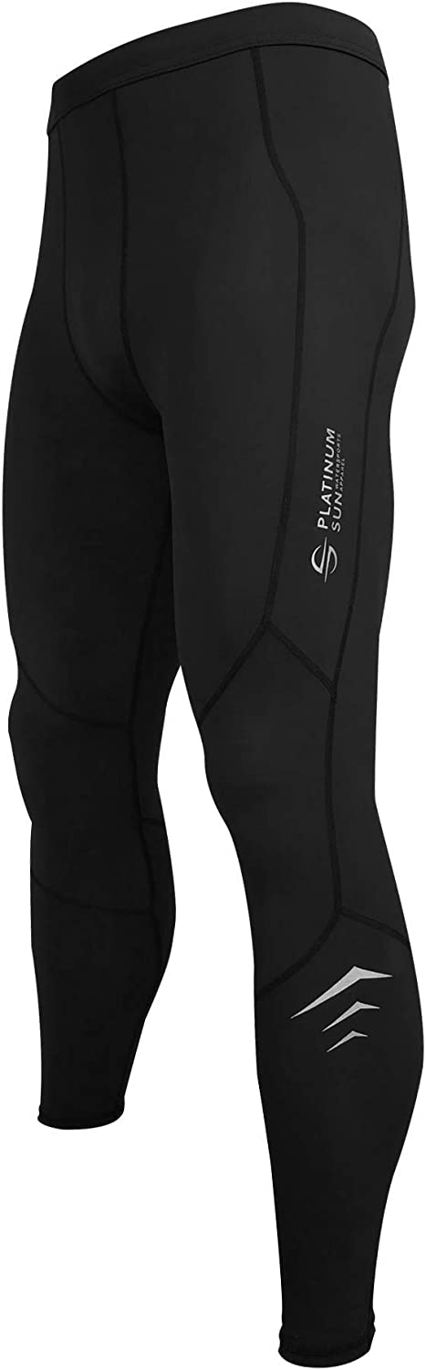 Men's Wetsuit Swim Compression Leggings | Dive Skins Surf Tights Water Pants | Quick Dry Base Layer Running Workout UPF 50+