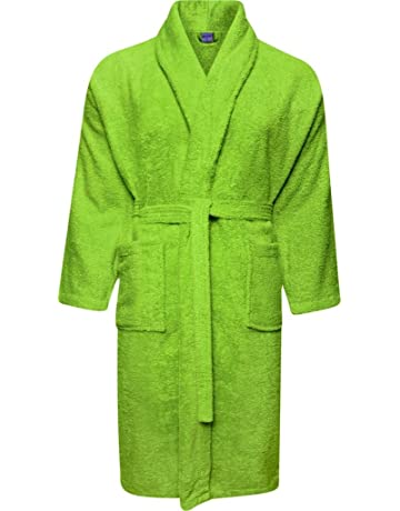 Adore Home Mens and Ladies 100% Cotton Terry Toweling Shawl Collar White  Bathrobe Dressing Gown 223426b35