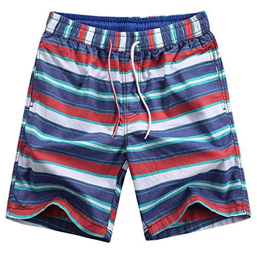 Shorts Haoyuxiang Hilado Casual Teñidas De Algodón 059 Rápido Secado Rayas 6xrw67p0q
