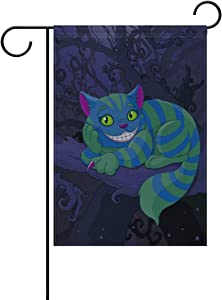Johnnie Welcome Garden Flag 12 X 18 Inches, Double Sided Seasonal Outdoor Flag and Best for Party Yard Home Decor, Cheshire Cat Printed for Christmas Decorative