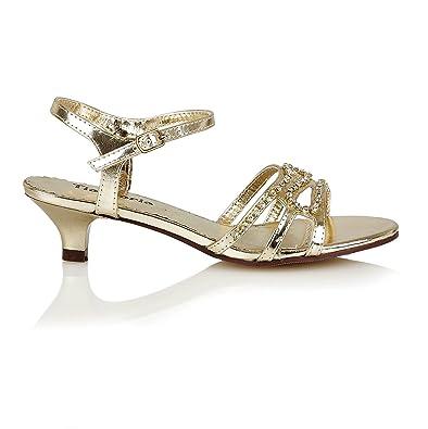 Shoe Avenue New Girls Low Heel Bridesmaids Wedding Party Sandals