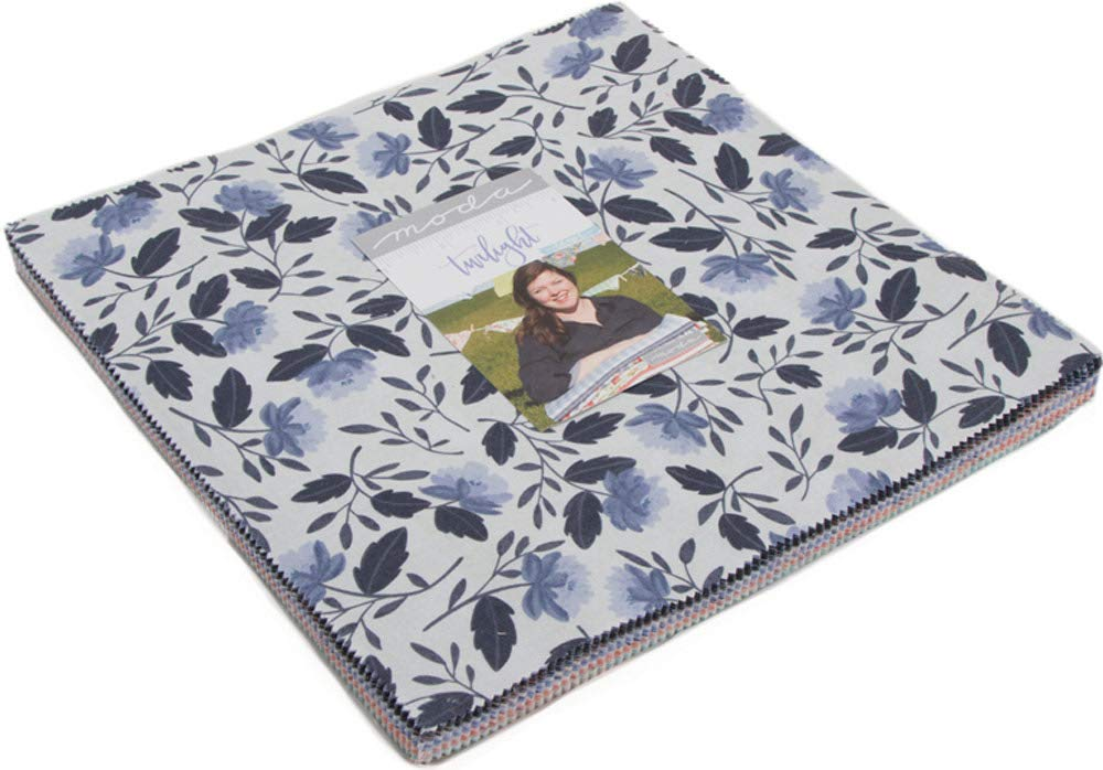 42-10 inch Precut Fabric Quilt Squares by One Canoe Two Twilight Layer Cake