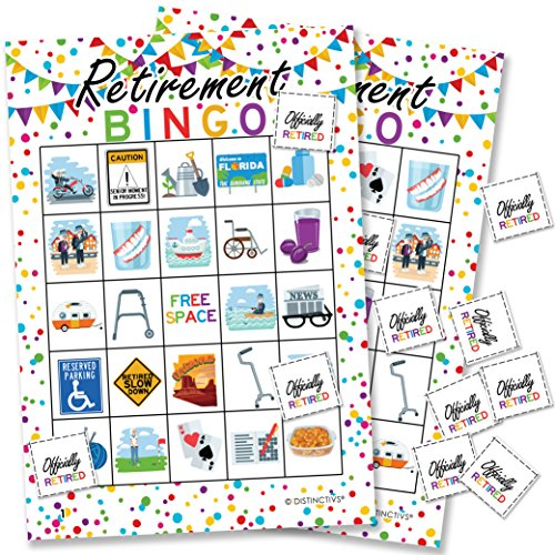 Retirement Party Bingo Game - 24 Players by DISTINCTIVS