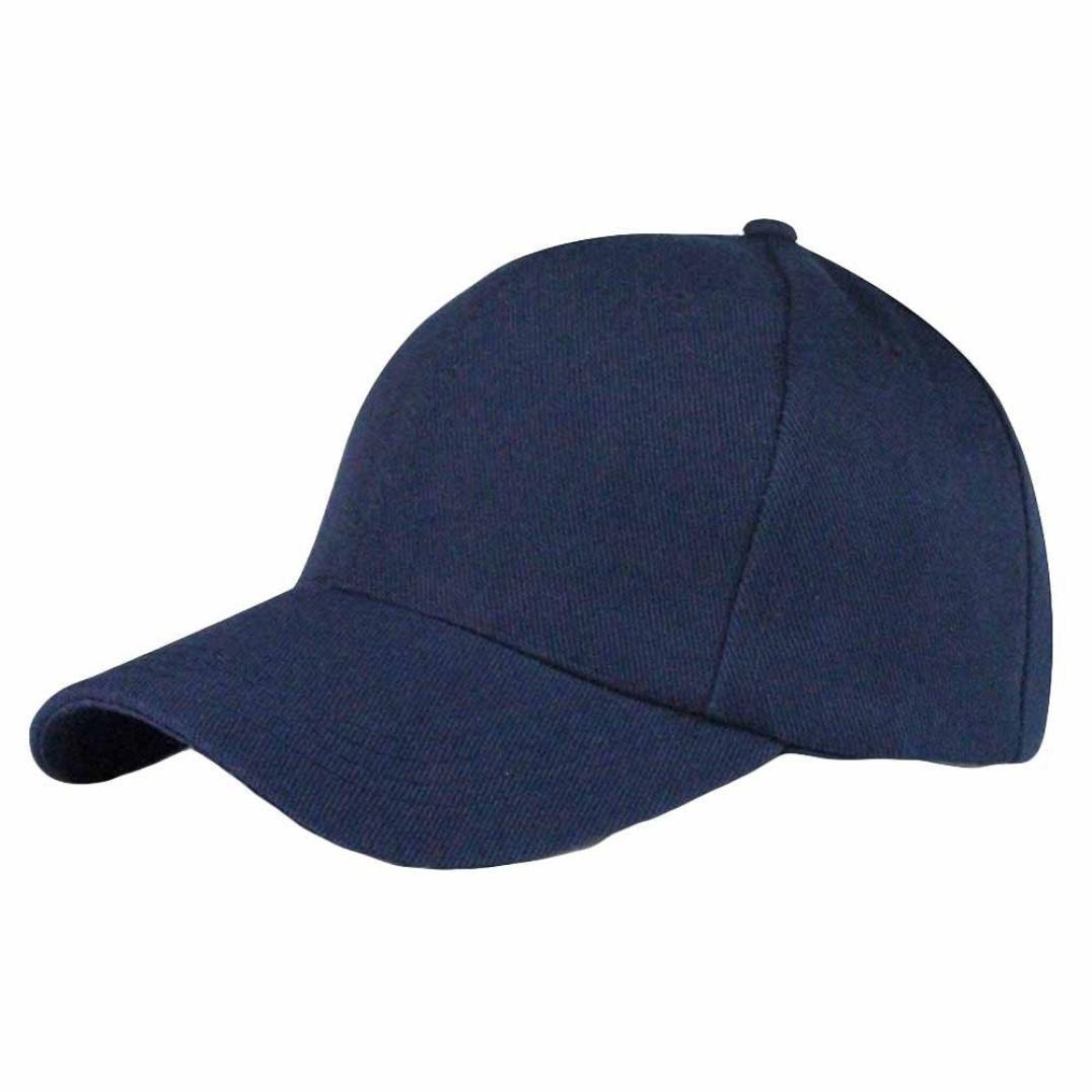 Pure Baseball Caps,Hemlock Snapback Hats Hip-Hop Adjustable Fishing Hat Sun Cap Adjustable Beach Hats (Navy)