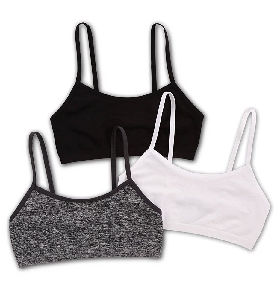 b45c7209f703d Fruit Of The Loom Santoni Seamless Strappy Sports Bra - 3 Pack (FT435)  S Black Grey White  Amazon.ca  Clothing   Accessories