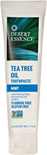 product image for Desert Essence Tea Tree Oil Toothpaste - Mint - 6.25 Oz - Refreshing Taste - Deep Cleans Teeth & Gums - Helps Fight Plaque - Sea Salt - Pure Essential Oil - Baking Soda - Promotes Healthy Mouth