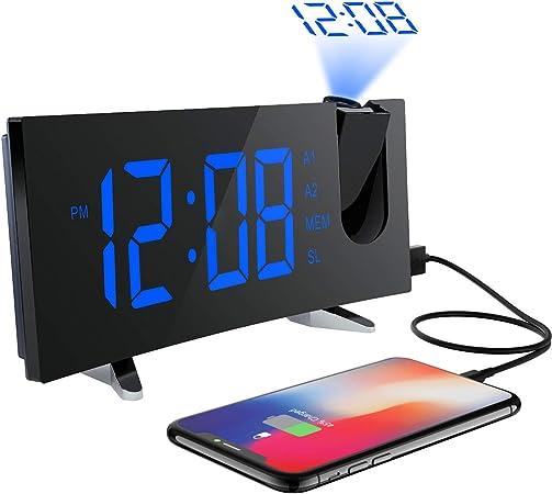 Holife Despertador Proyector, [2018 Actualizado] Despertador Reloj ...