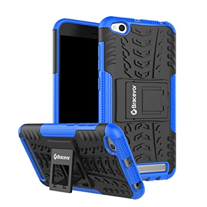 purchase cheap 4098b 5ba94 Bracevor XRD5ADKSBU Back Case Cover with Kickstand for Xiaomi Redmi 5A  (Blue)