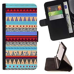 - Hipstr Nebula Aztec Pattern - - Prima caja de la PU billetera de cuero con ranuras para tarjetas, efectivo Compartimiento desmontable y correa para la mu?eca FOR Apple iPhone 6 6S 4.7 King case