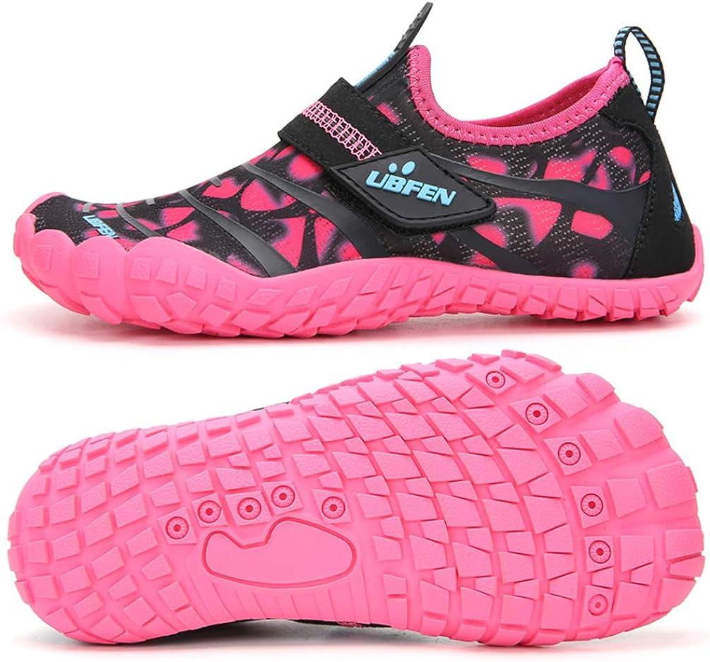 UBFEN Chaussures Aquatiques Enfants Filles Gar/çon Chaussures de Plage Pieds Nus S/échage Rapide Chaussures de Natation pour Plage Piscine Surf Plong/ée Sport Aquatique