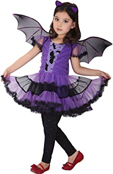 ShiyiUP Halloween Disfraces de Murciélago Vestido Diablo para ...