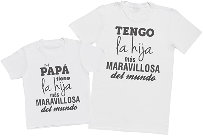 bcfa8b6fdc8 Zarlivia Clothing Mi Papá Tiene la Hija - Regalo para Padres e Hijos ...